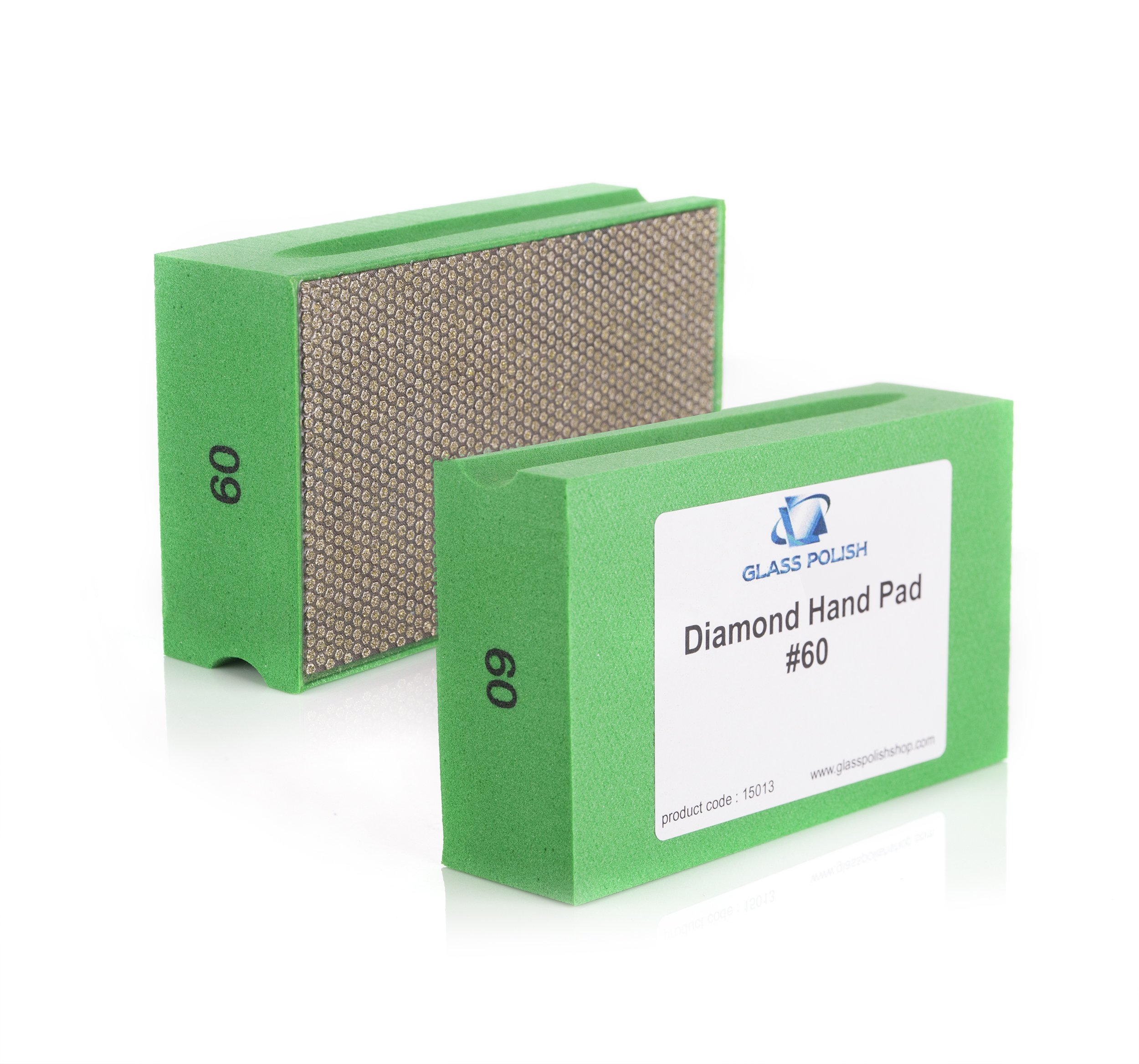 GP15013 Diamond Hand Sanding Pad for Sanding, Grinding, Polishing and Sharp Edges / for Glass, Stone, Marble, Concrete / A+ Class / GRIT 60 - Coarse