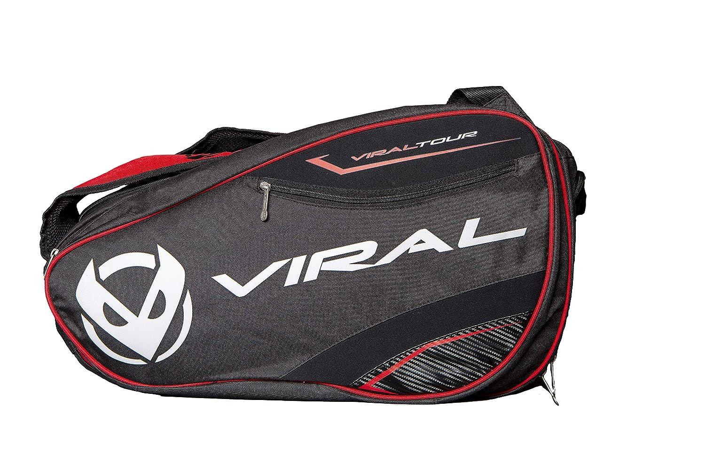 VIRAL Paletero de Padel Bag Tour Black&Red: Amazon.es: Deportes y aire libre