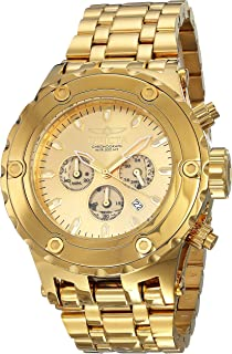 Invicta Mens 14506 Subaqua Reserve Analog Japan Quartz Chronograph Gold Watch