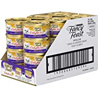 Fancy Feast Delights with Cheddar Turkey Wet Cat Food, 24 Can, 24X85g