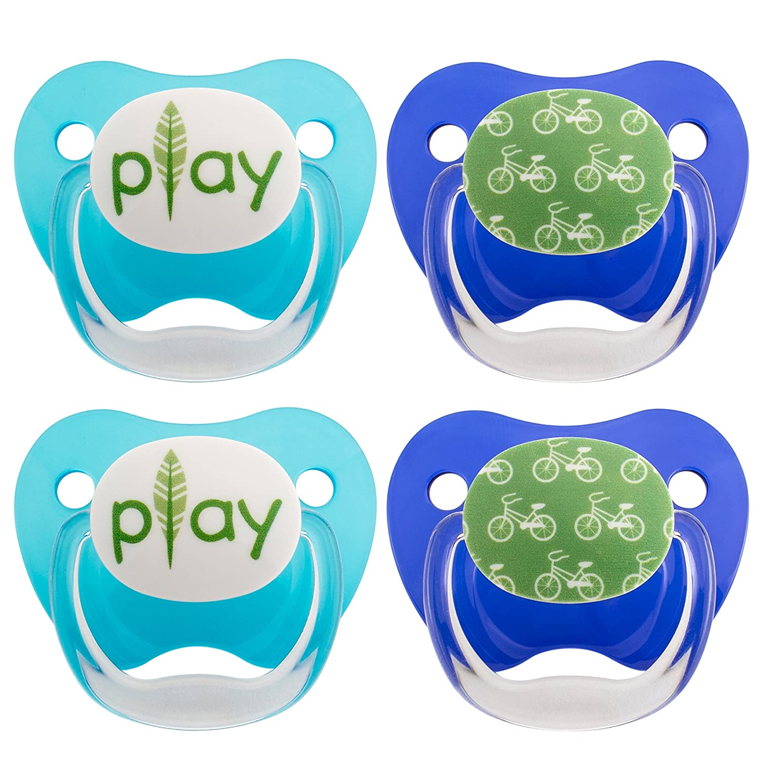 Dr. Brown's Classic Prevent Pacifier, Wild Blue, 0-6 Months+, 4 Count