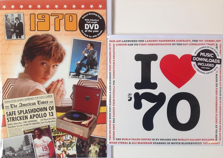 1970 BIRTHDAY ANNIVERSARY GIFT Card  I Love 1970  CD  Year Greeting Card