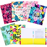 Folders with Pockets 12 Counts Letter Size Decorative File Folders for School, Office and Home, Cute Colored File…