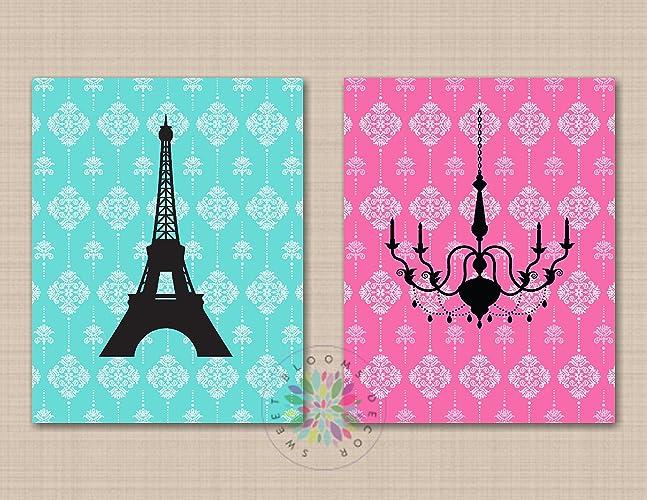Amazon.com: Paris Wall Art Paris Girl Room Decor Eiffel ...