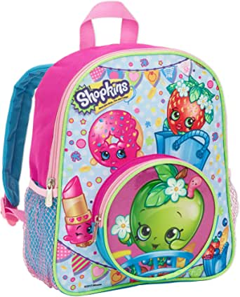 Shopkins Girls 30cm School Backpack with Round Apple Blossom Front Pocket