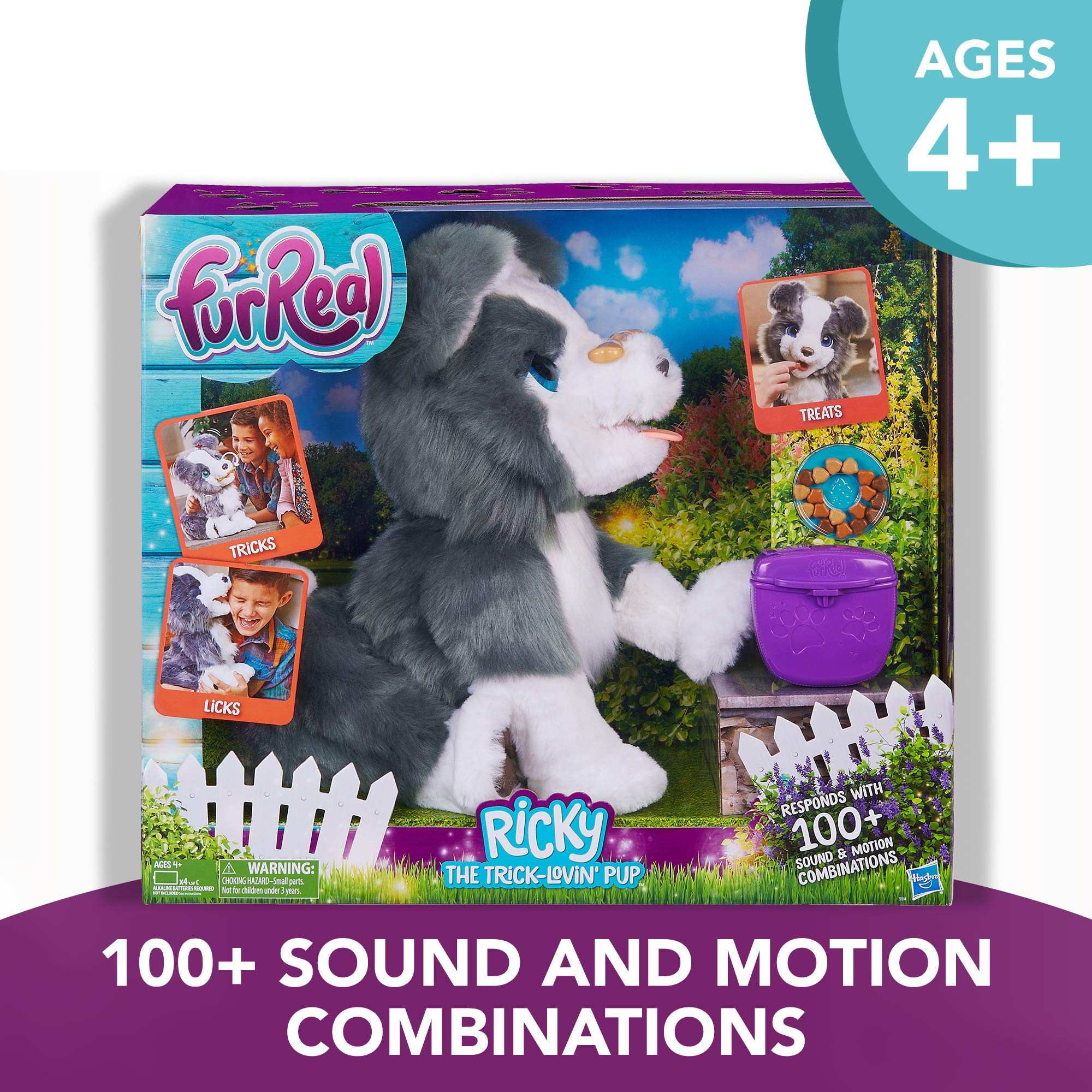 FurReal Friends Ricky, the Trick-Lovin' Interactive Plush Pet Toy, 100+ Sound-and-Motion Combinations, Ages 4 and Up by FurReal (Image #2)