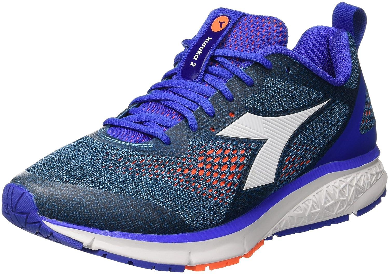 Diadora Kuruka 2, Zapatillas de Running para Hombre 46 EU|Azul (Blu Fluo Arancio Fluo)