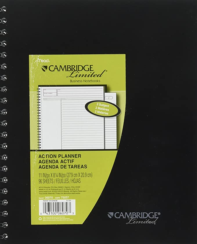 Amazon.com: Mead Cambridge Limited Business Notebook Legal ...