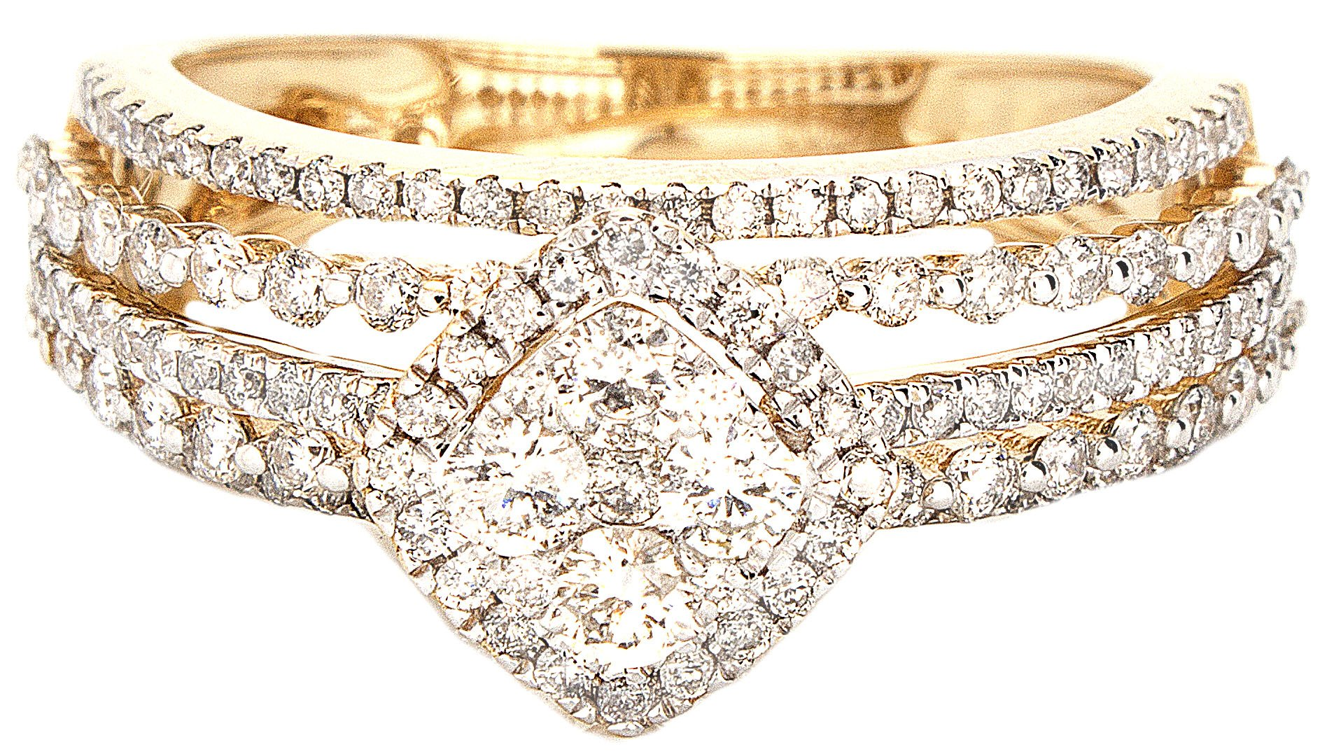 1.00ctw Excellent Cut Round Diamond (H-1 color, i1 - i2 clarity) in 14k Gold Fashion Ring