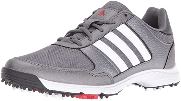 adidas Men's Tech Response Golf Shoe, Iron Metallic/White, 13 M US