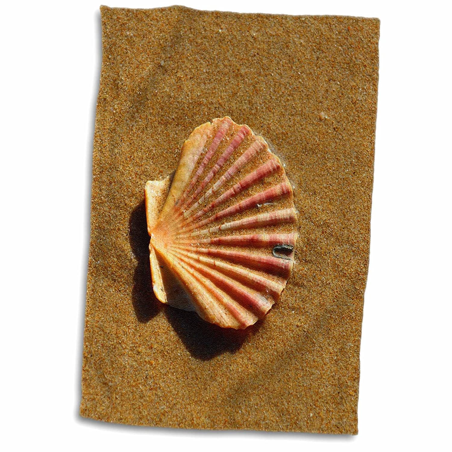 15 x 22 3D Rose Portugal-Seashell On Sand Hand Towel