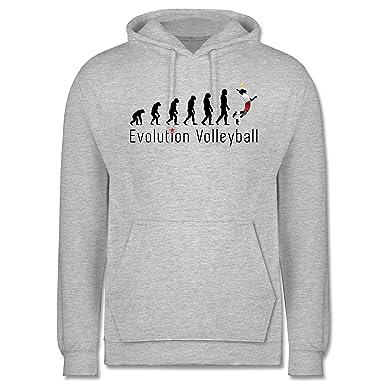 Shirtracer Evolution - Volleyball Evolution - XS - Grau meliert - JH001 -  Herren Hoodie