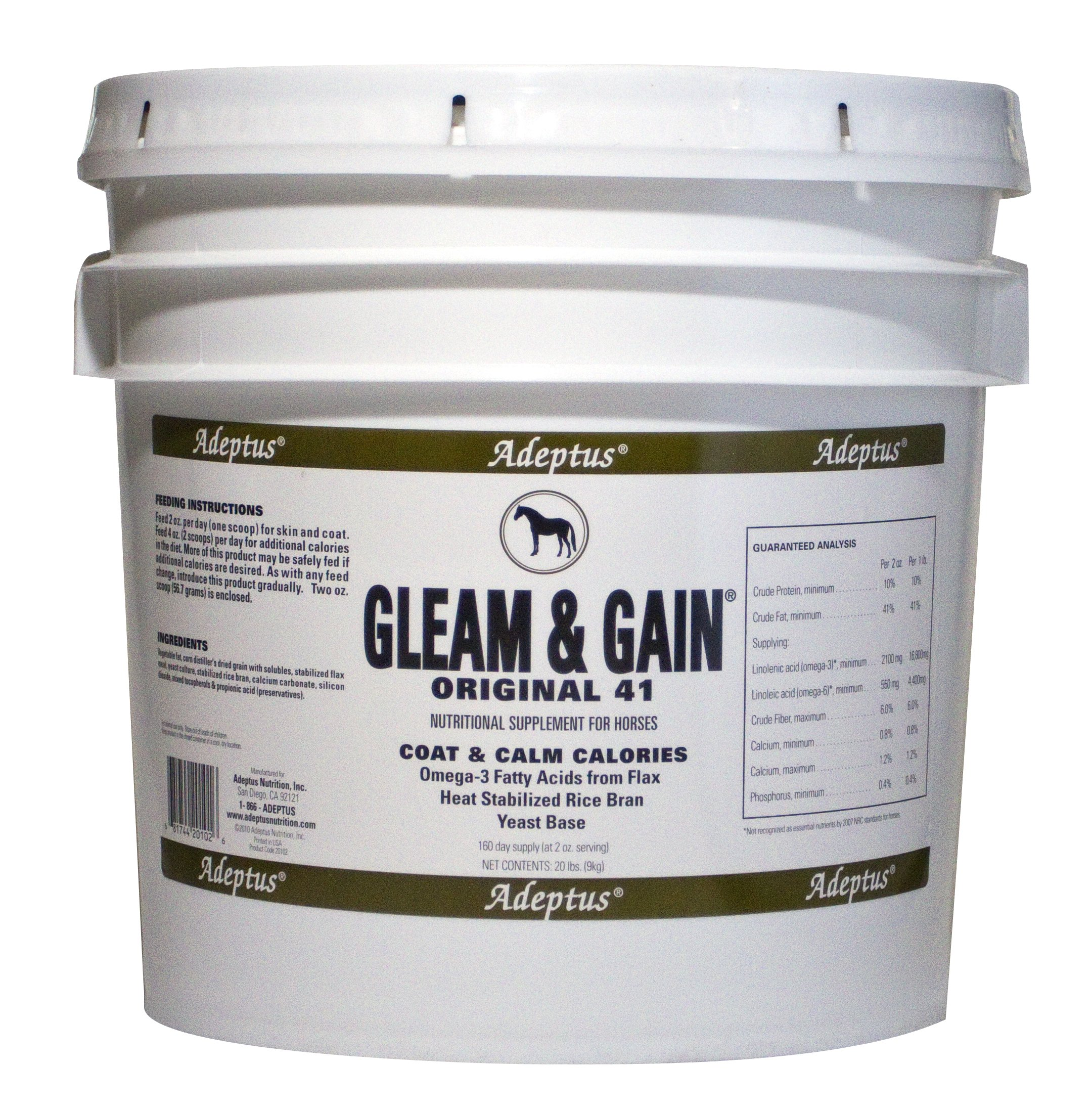 Adeptus Nutrition Gleam and Gain Original 41 EQ Joint Supplements, 20 lb./12 x 12 x 12 by Adeptus Nutrition