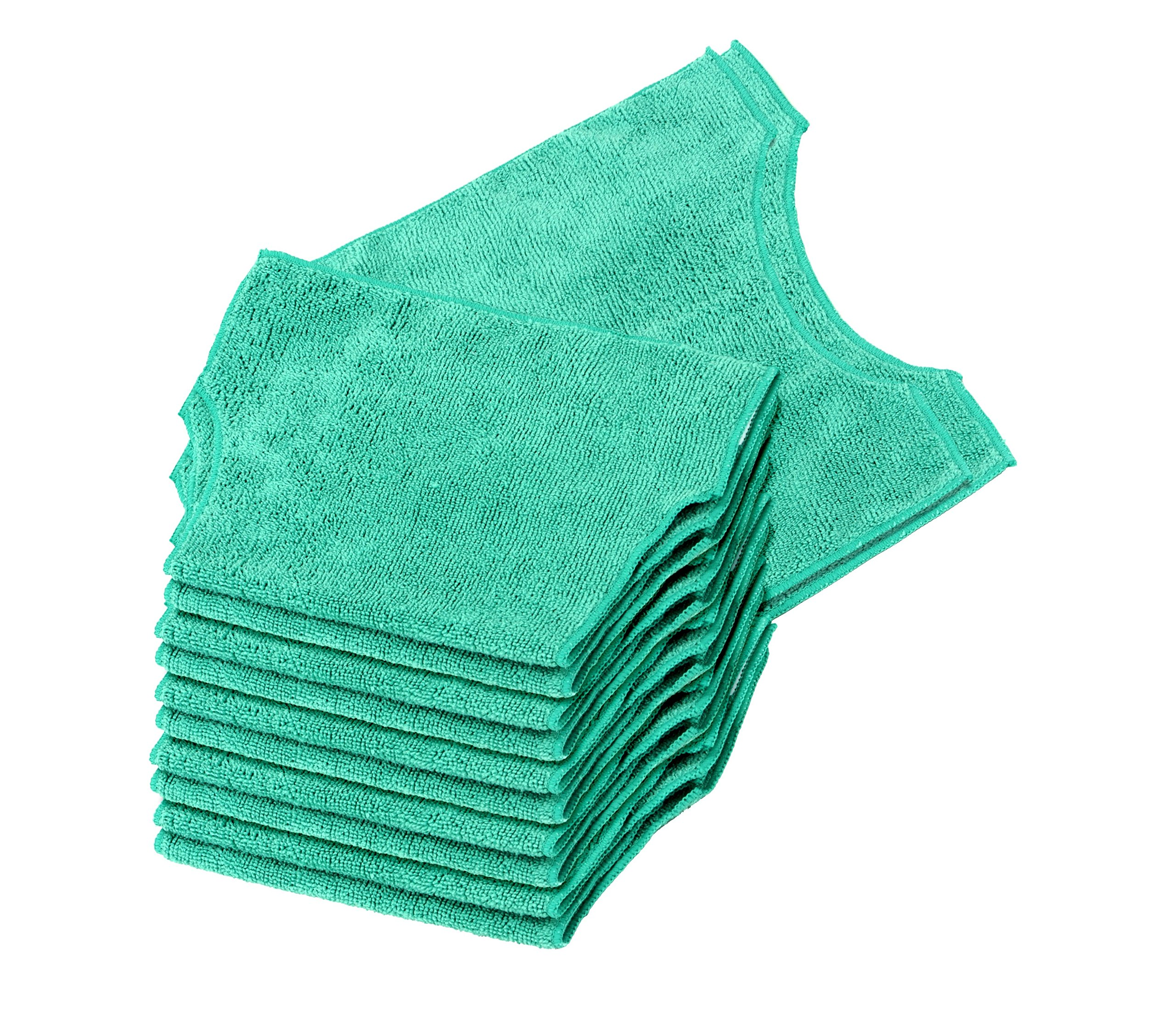 Real Clean Microfiber Refills Compatible with Swiffer and Clorox ReadyMop 12-Pack Green