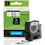 DYMO Standard D1 53713 Labeling Tape ( Black Print on White Tape , 1'' W x 23' L , 1 Cartridge)