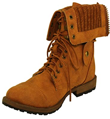 Women's Star-8 Adjustable Foldover Cuff Combat Booties