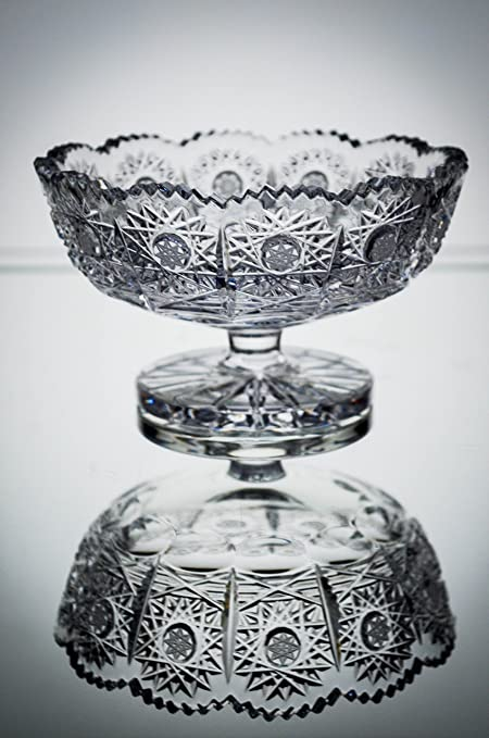 Amazon Bohemian Crystal Glass Footed Bowl Vase D 5 Decorative