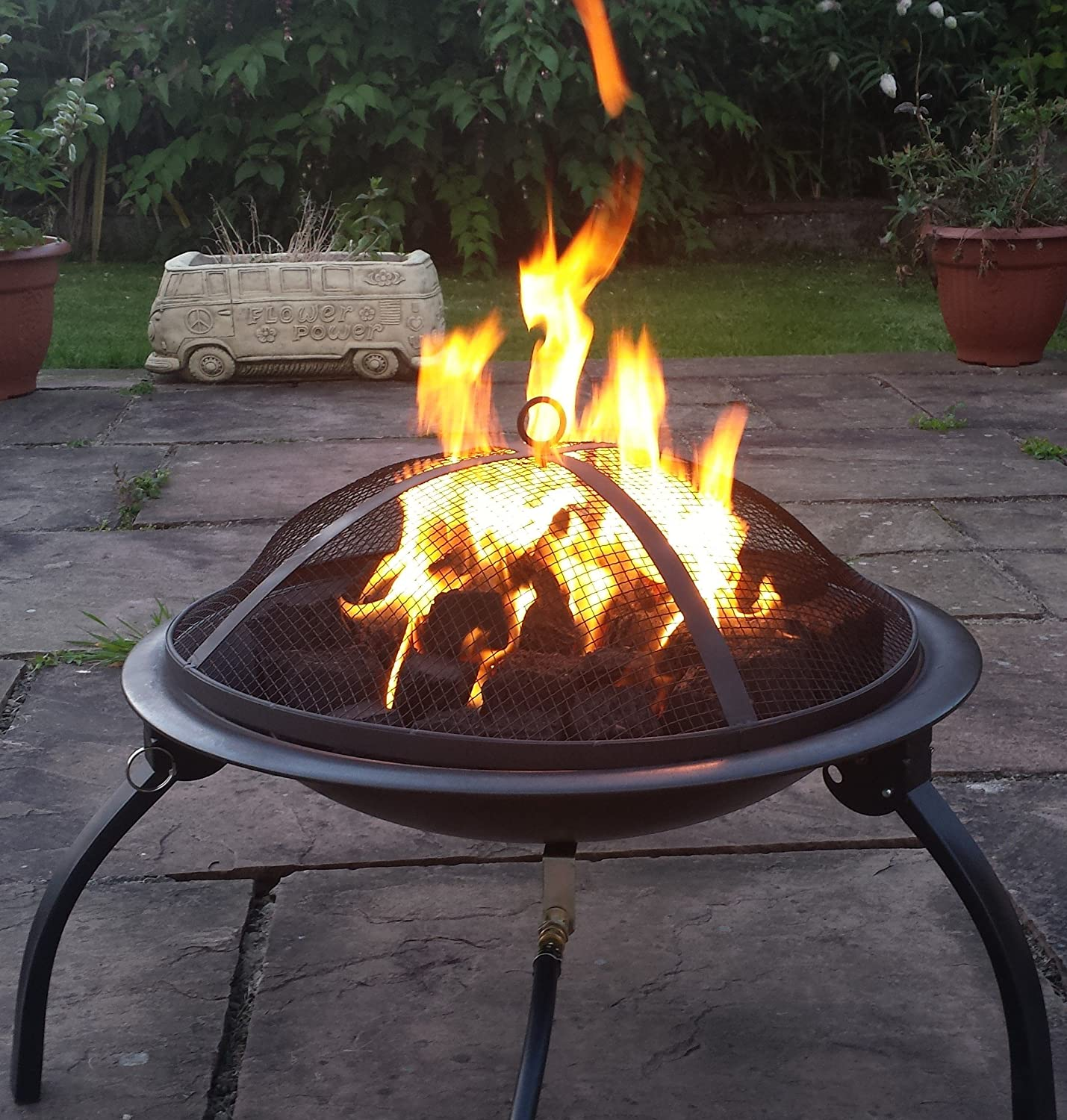festival fires limited saturn bowl gas fire pit real flame lpg