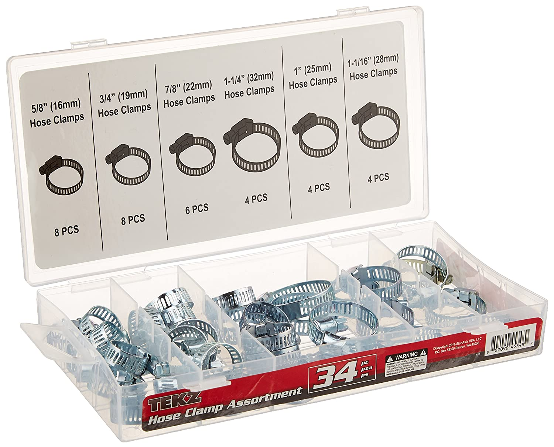 Titan 45348 34-Piece Hose Clamp Assortment