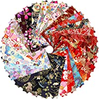 Tudomro 30 Pieces Japanese Style Fabric Squares 8 x 10 Inch Fabric Bundle Squares Patchwork, Wrapping Cloth Quilting…