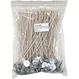 EricX Light 100 Piece 8 inch Low Smoke Soy Wax Natural Candle Wick,Cotton & Paper Interwoven core,Large,For Candle Making,Candle DIY