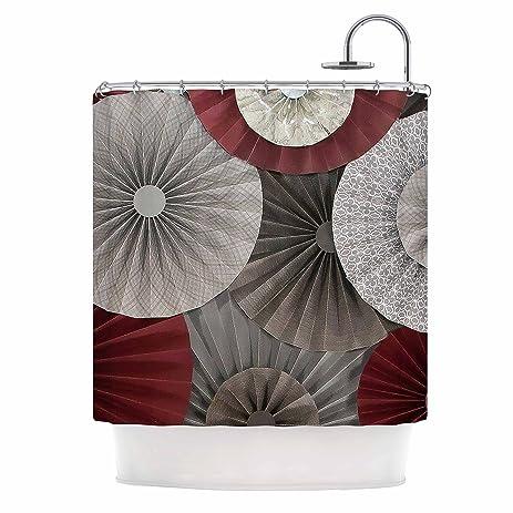 Kess InHouse Heidi Jennings QuotMerlotquot Maroon Abstract Shower Curtain