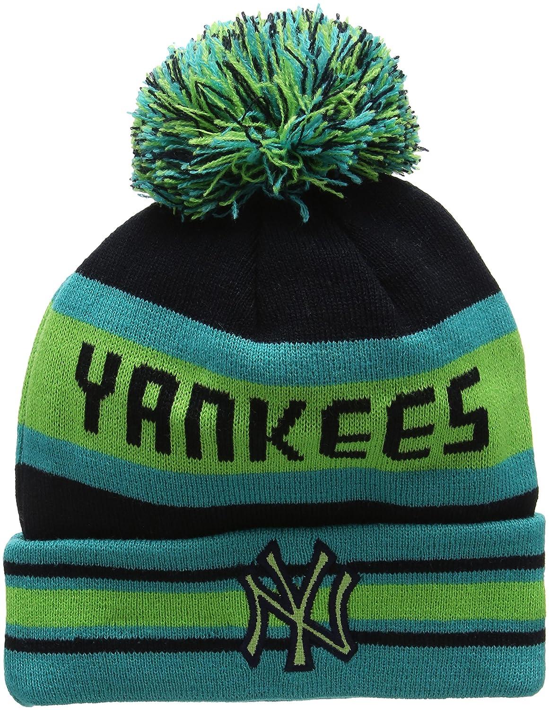 fee5a643f77 New Era Unisex-Adults  Ny Yankees Bobble Knit Beanie