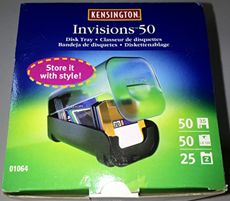 Vintage Kensington® Invisions™ Media Storage; Disk Tray; for 50 Diskettes or 50