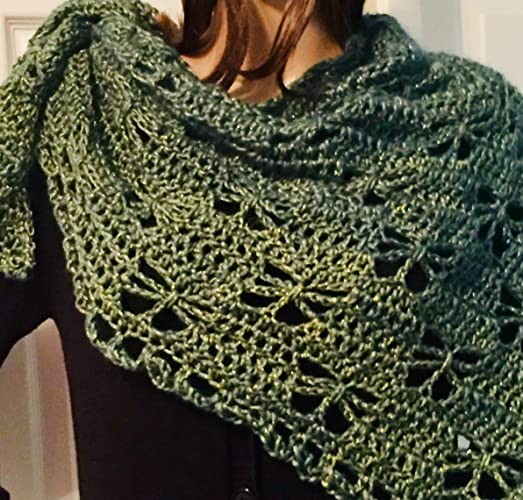 Amazon Com Hand Crochet Fashion Butterfly Shawl And Wrap Handmade