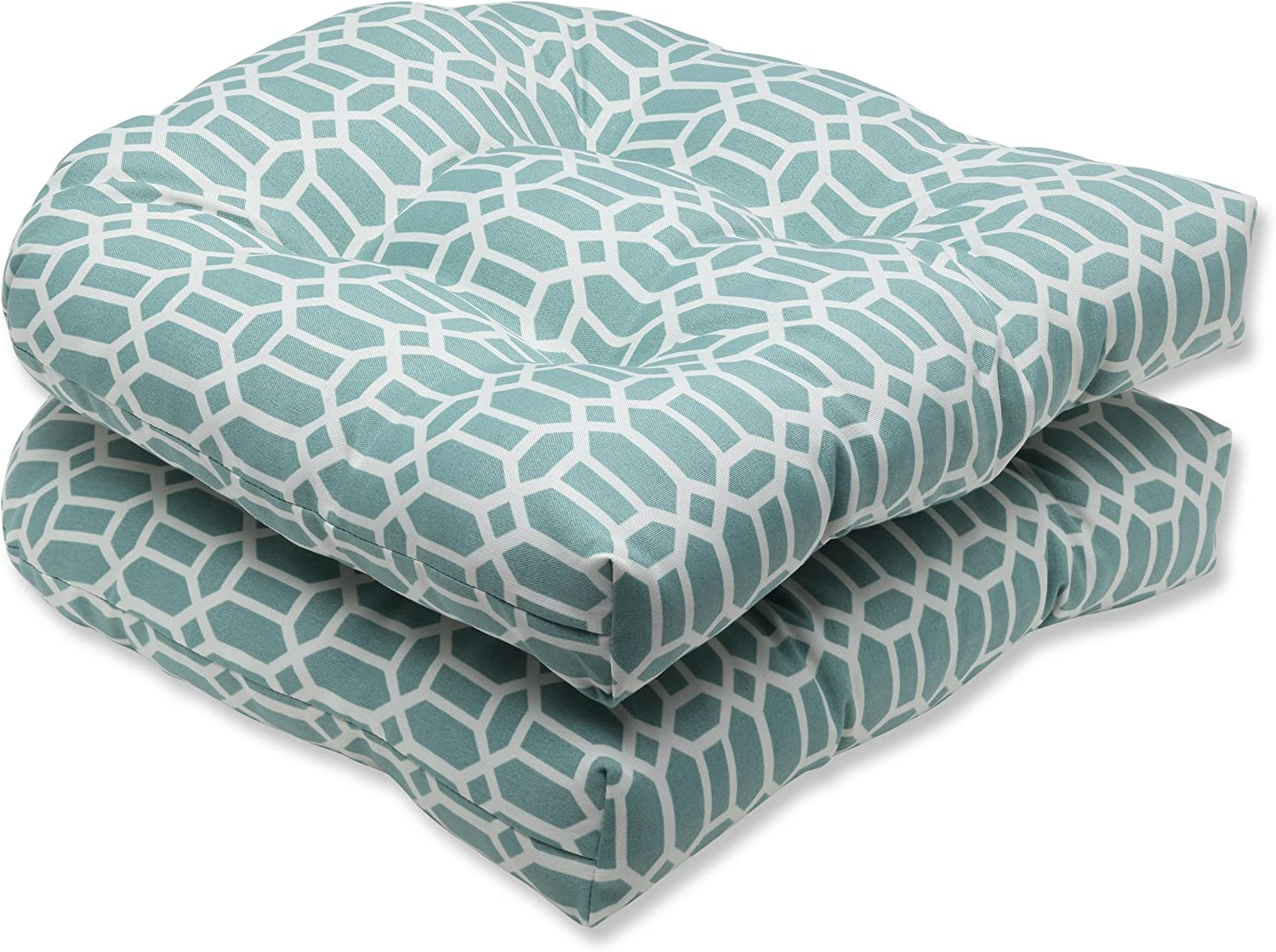 Pillow Perfect Outdoor Rhodes Quartz Wicker Seat Cushion, Set of 2