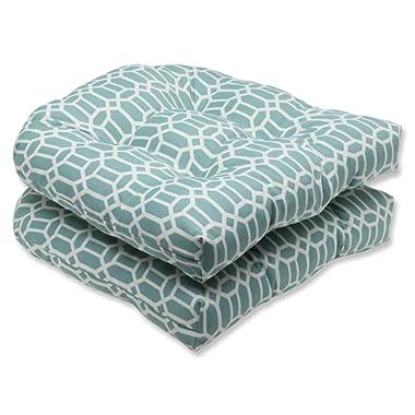 Pillow Perfect Outdoor Rhodes Quartz Wicker Seat Cushion, Set of 2