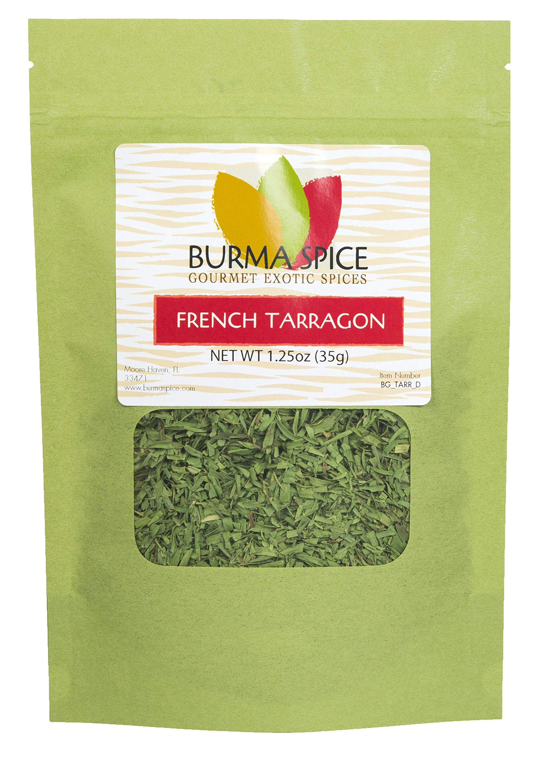 French Tarragon : Dried Herb, No additives, French Cuisine : Kosher Certified (1.25oz.)