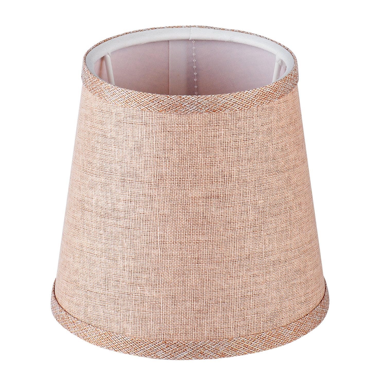 Cleeacc Lampshade Lamp Cover Decorative Handmade Modern E14 Screw Lampshade Buu American Pastoral Style Luxury Crystal Candle Glass E14 Adapter Lamp Shade Cloth Design 3
