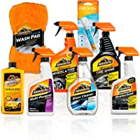 $32 » Armor All Premier Car Care Kit (8 Items) - 3pc Ultra Wax & Wash Kit, 3pc Interior, Glass Cleaner & Air…
