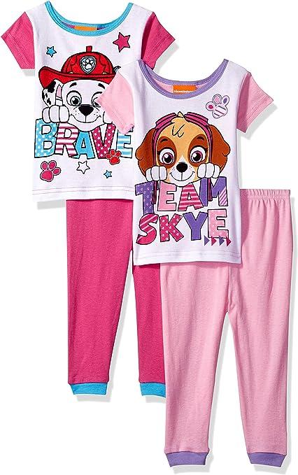 Bebé Chicos Paw Patrol Largo Pijamas Niños pequeños Chase 2 Pieza Pijama Ropa de Dormir Tamaño