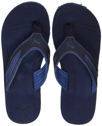 63fcf63a28c Puma Men s Fling Tech Idp Peacoat and True Blue Hawaii Thong Sandals - 10  UK