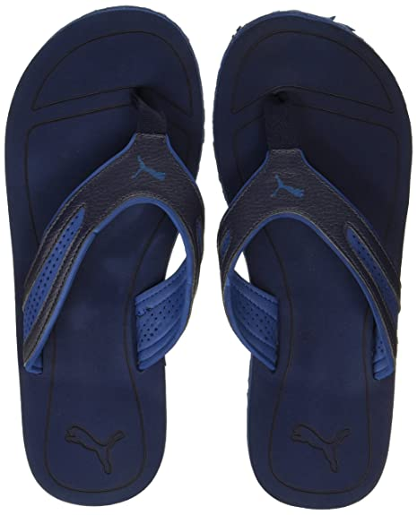 ed50f6e27799 Puma Men s Fling Tech Idp Peacoat and True Blue Hawaii Thong Sandals - 10  UK