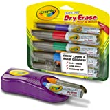 Crayola 98-8904  Dry Erase Markers & Magnetic Eraser Set, Classroom Supplies, 9 Count, Stocking Stuffer, Gift