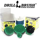 Drillbrush Scrub Brush Drill Attachment Kit - Drill Powered Cleaning Brush and Pad Attachments - Time Saving Cleaning Kit Great for Kitchen, Bathroom, Cookware and Much More