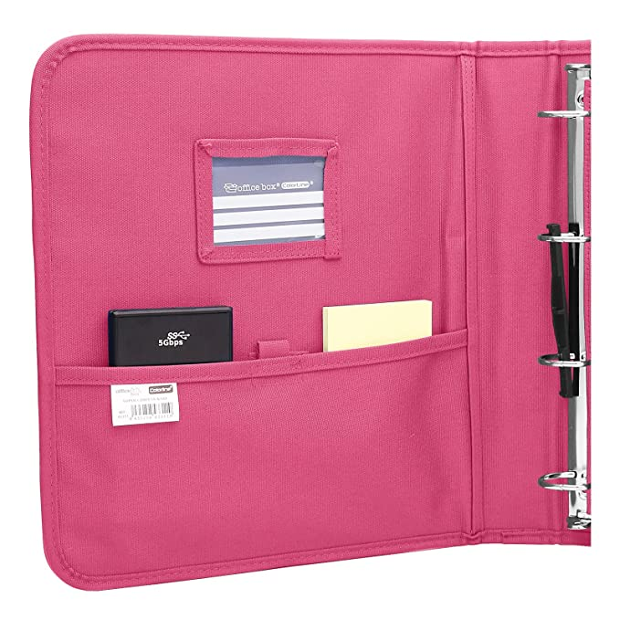 Colorline 43311 - Pack Carpeta de 4 Anillas y Porta Todo Integrado, Super Carpeta & Go, Todo en Uno para Material Escolar. Color Fucsia, Medidas 34 x 29 x 6 ...