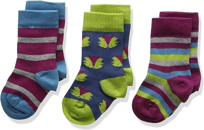 Kite 3 pack socks foxy Calcetines, Multicolor (Multi), 0-6 Meses ...