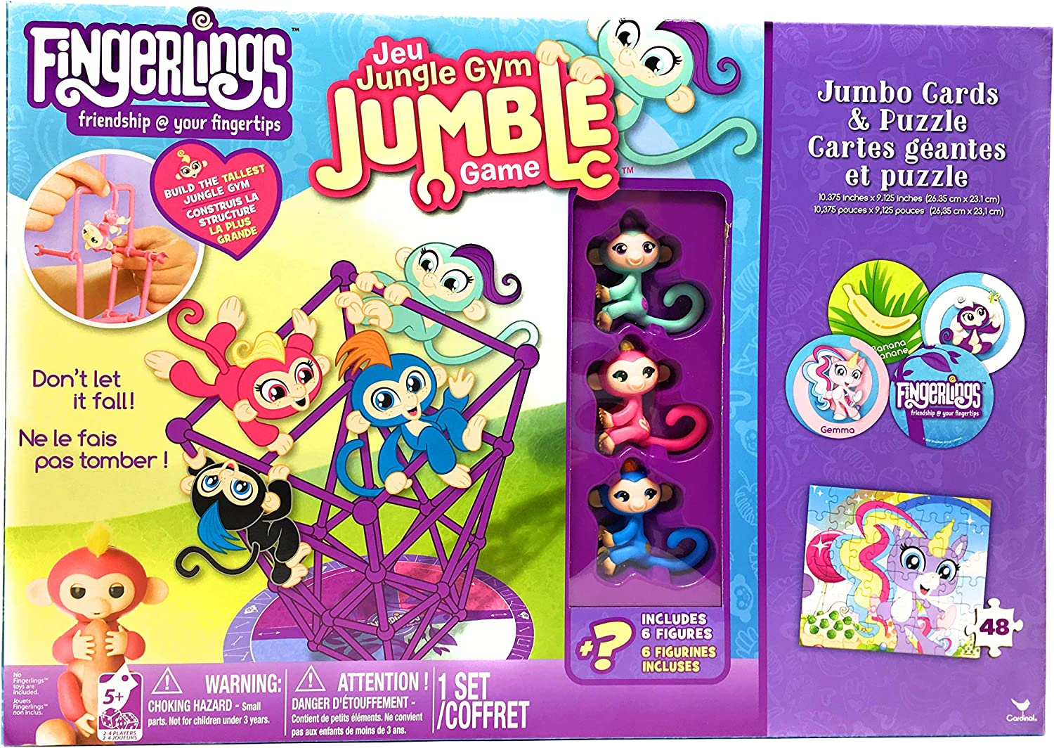 Fingerlings Jungle Gym Jumble Game Monkey Toy 2-4 Players Brand New