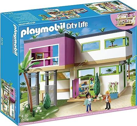 PLAYMOBIL Mansión Moderna Playset Completo (5574): Amazon.es: Juguetes y juegos