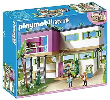 Amazon Com Playmobil Modern Luxury Mansion Play Set Toys Games