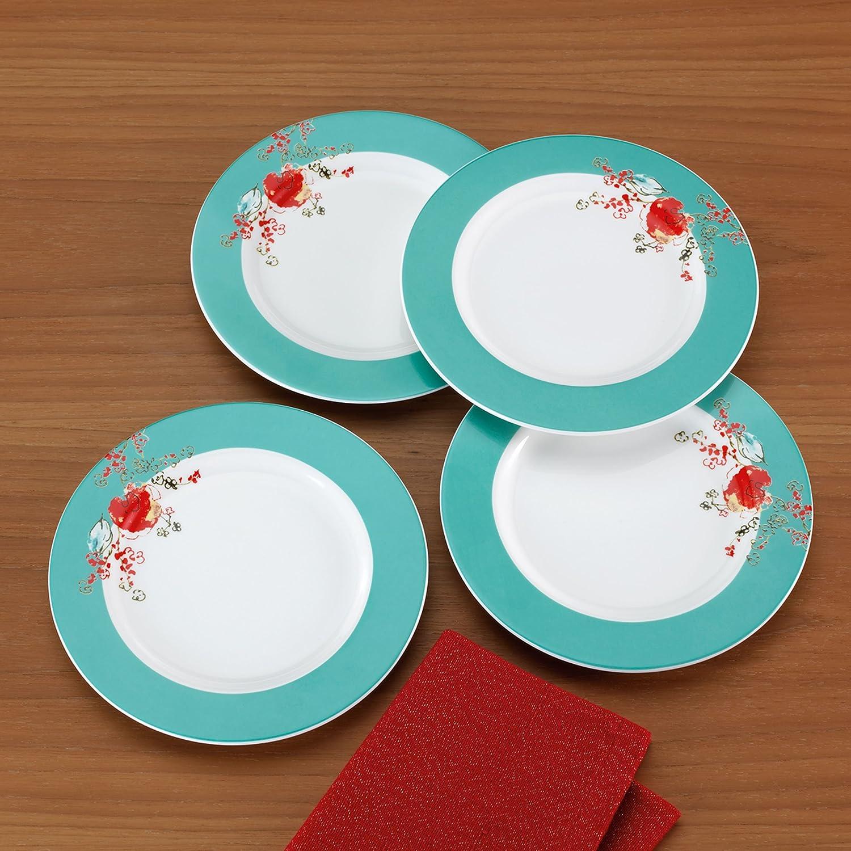 Amazon.com | Lenox Simply Fine Chirp 4 Piece Dessert Plate Set: China  Chirp: Serving Dishes, Trays U0026 Platters