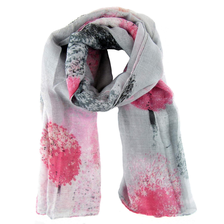 85 x 180cm Zisla Fulard sciarpa con stampa ad albero Talla