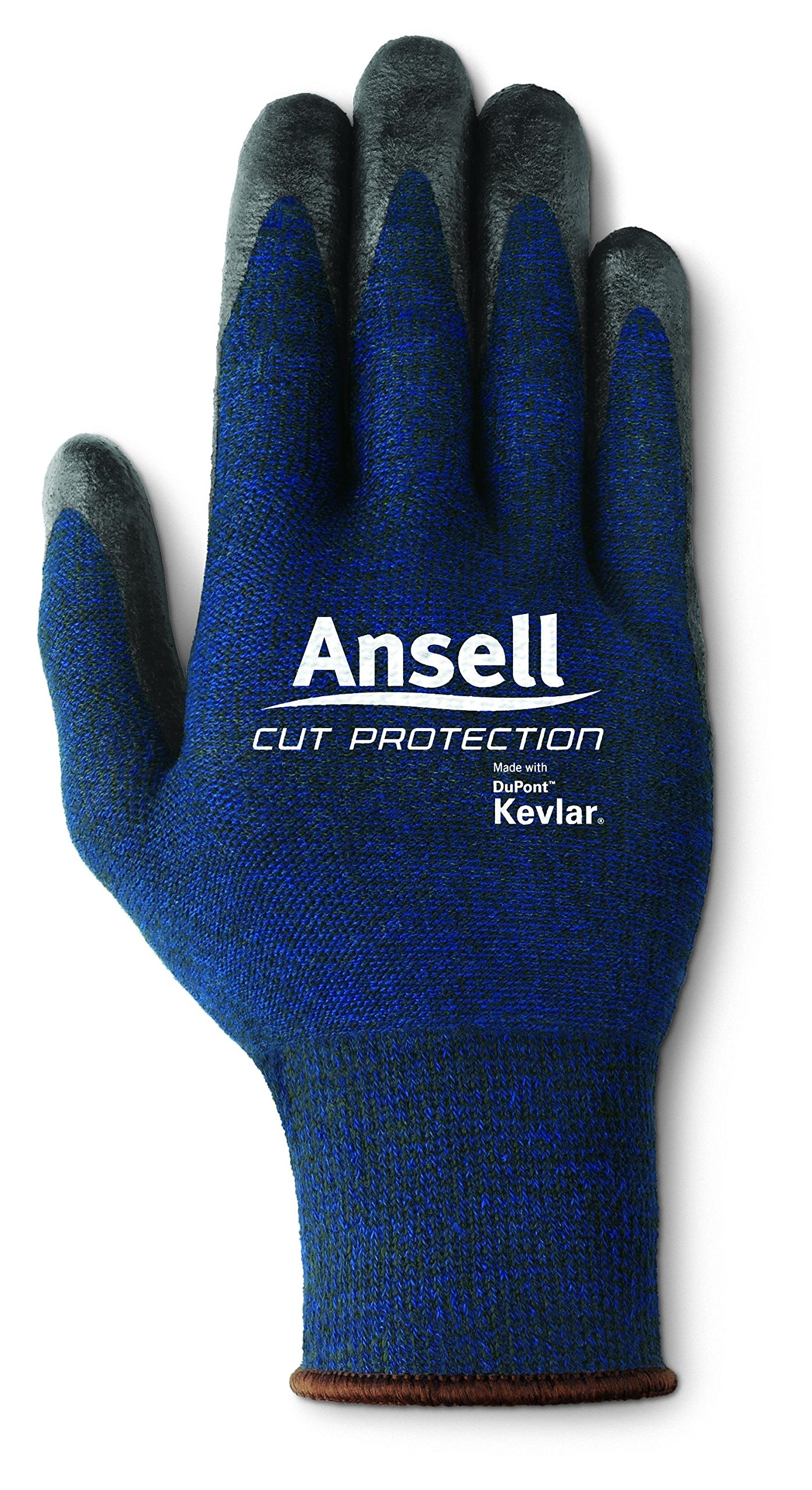 Ansell Cut Protection 97-505 Kevlar Glove, Cut Resistant, Black Foam Nitrile Coating, Knit Wrist Cuff, Medium (Pack of 1)