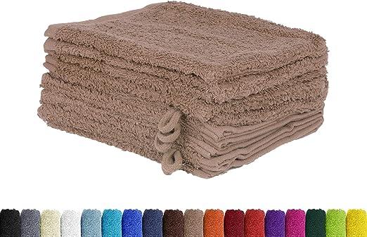 Juego de 10 manoplas de baño en muchos colores, 100% algodón, 10 ...