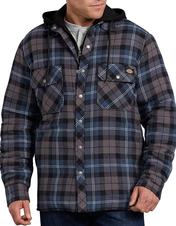 Dickies Herren Relaxed Fit Hooded Quilted Shirt Jacket Gesteppte Jacke