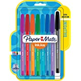 Paper Mate InkJoy 100ST Ballpoint Pens, Medium Point, Assorted Ink, 8 Pack (1945932)